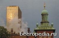 Старый и новый Копенгаген... Новое офисное здание и диковинно изукрашенный «минарет» - два лица пивоваренного гиганта Carlsberg