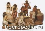 Изображение процессов хлебопечения и пивоварения в Древнем Египте. Никто точно не знает, с чего начиналось изготовление пива: возможно, его впервые сварили из спонтанно забродившего сырого теста для хлеба, но не исключено, что пиво научились делать раньше, чем хлеб. В любом случае, именно научившись печь хлеб и варить пиво, человечество сменило кочевой образ жизни на оседлый